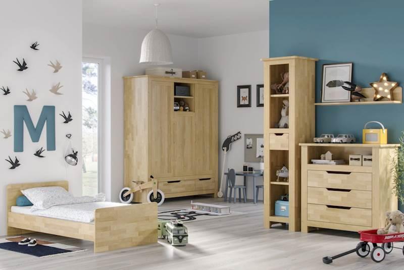 Betula - Zestaw meble dziecięce (łóżeczko 140x70 + szafa + komoda + regał + półka)