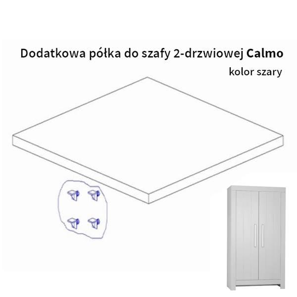 Calmo Pinio - Dodatkowa półka do szafy 2 drzwiowa - kolor szary