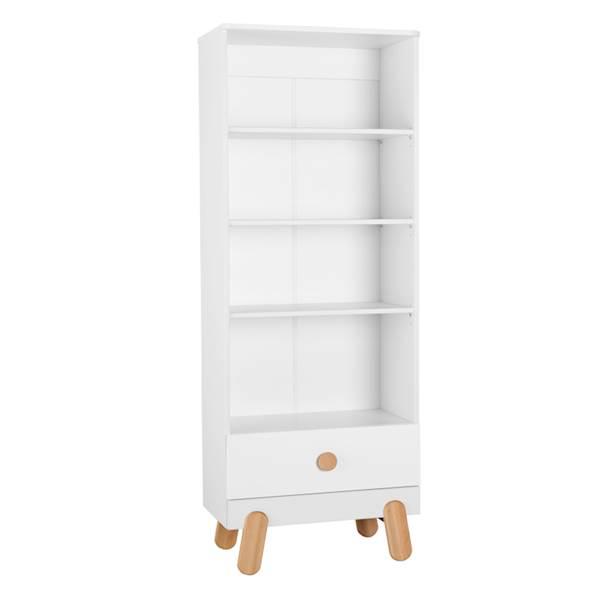 Iga Pinio - Regał z szufladą - kolor biały