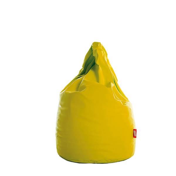 Pufa XL (ekoskóra) - żółty