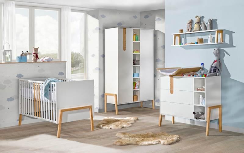 Yeti - Łóżeczko tapczanik 140x70 cm - Jesion + biały