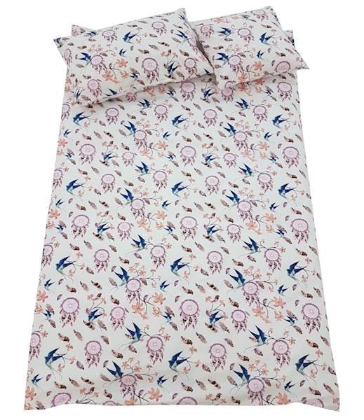 Pościel dziecięca zestaw na łóżko 160x80, 7-elementowa - Jaskółki