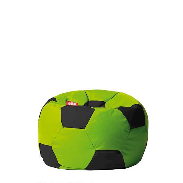 Pufa piłka 250L (kodura) - limonkowo-czarna