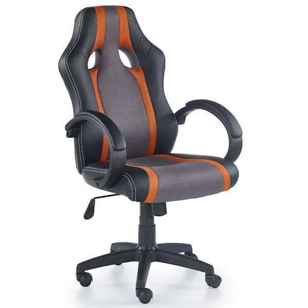 RADIX fotel gracza popielato - pomarańczowy