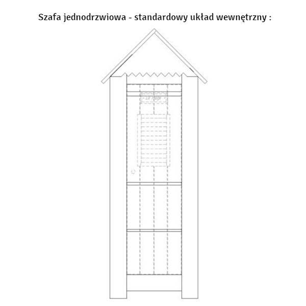 Marsylia drewno Pinio - Szafa 1 drzwiowa domek - kolor biały
