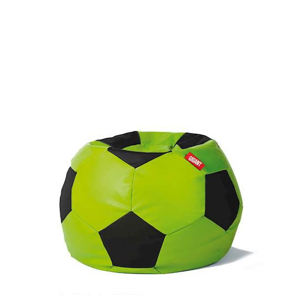 Pufa piłka 250L (ekoskóra) - limonkowo-czarna