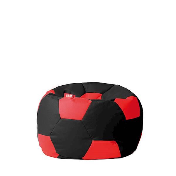 Pufa piłka 250L (kodura) - czarno-czerwona