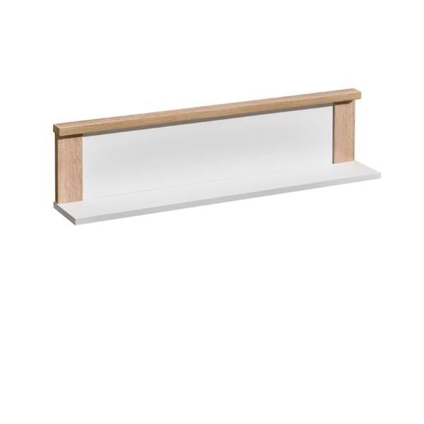 Marsylia ATB - Półka ścienna wisząca - dąb sonoma + biały