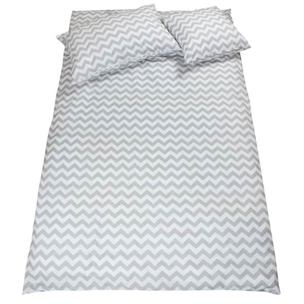 Pościel dziecięca zestaw na łóżko 160x80, 7-elementowa - Zygzag