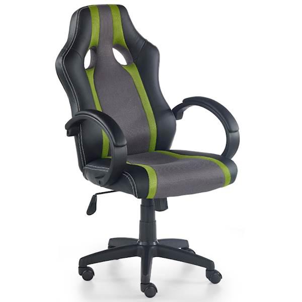 RADIX fotel gracza popielato - zielony