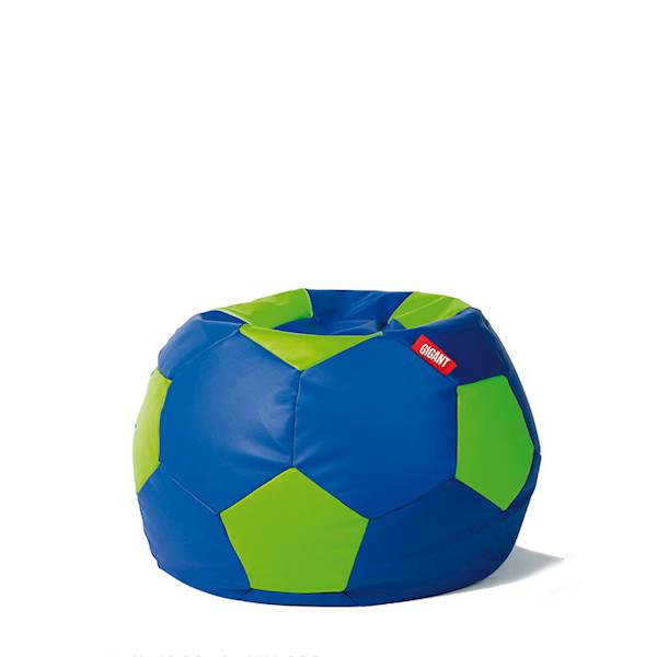 Pufa piłka 250L (ekoskóra) - niebiesko-limonka