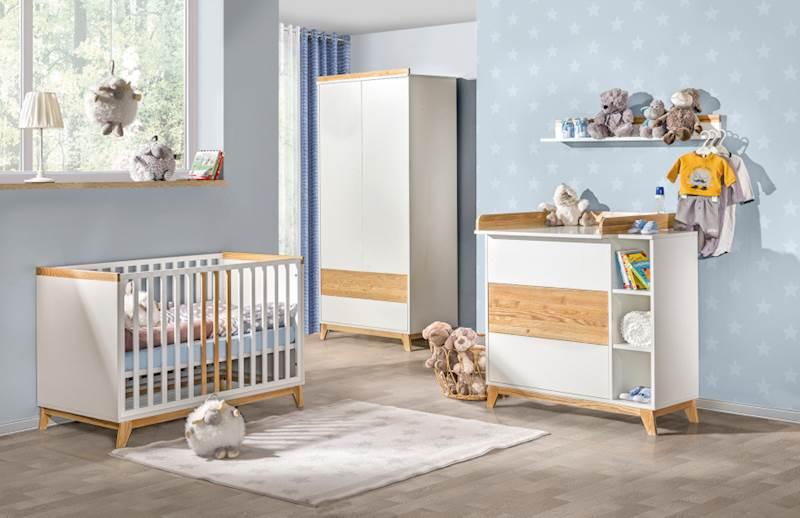 Nordik - Zestaw meble niemowlęce (2) - Jesion + biały