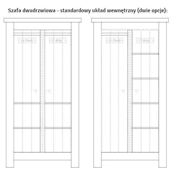 Barcelona Pinio - Szafa 2-drzwiowa - kolor biały