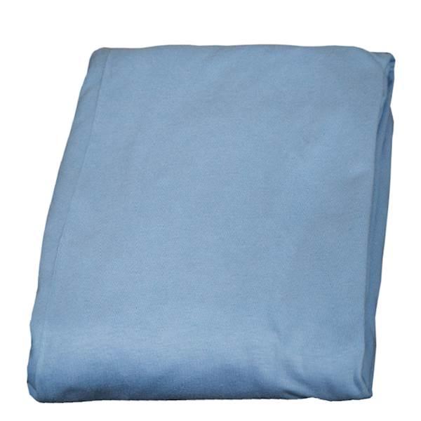 Prześcieradło z gumką na łóżko dziecięce 160x80 cm - kolor niebieski