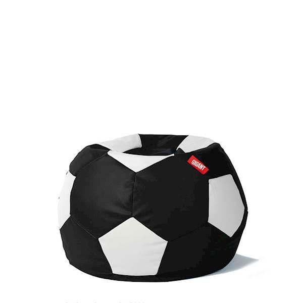 Pufa piłka 250L (ekoskóra) - czarno-biała