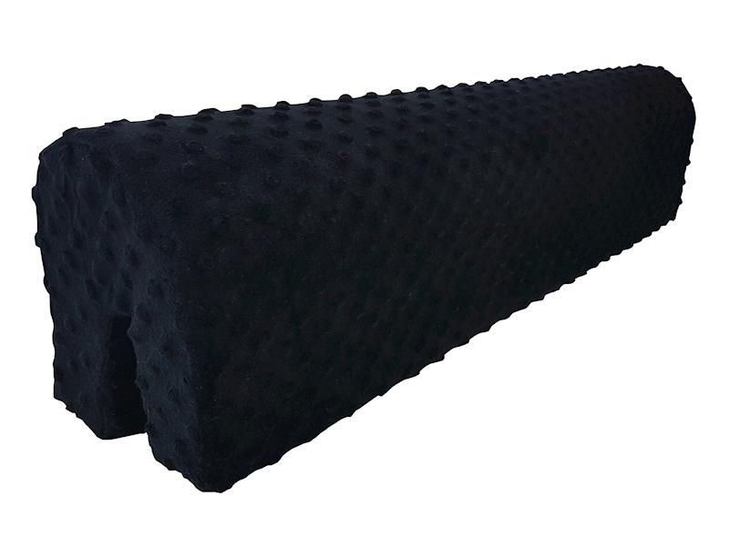 Ochraniacz piankowy Minky na łóżko barierkę 80 cm - czarny
