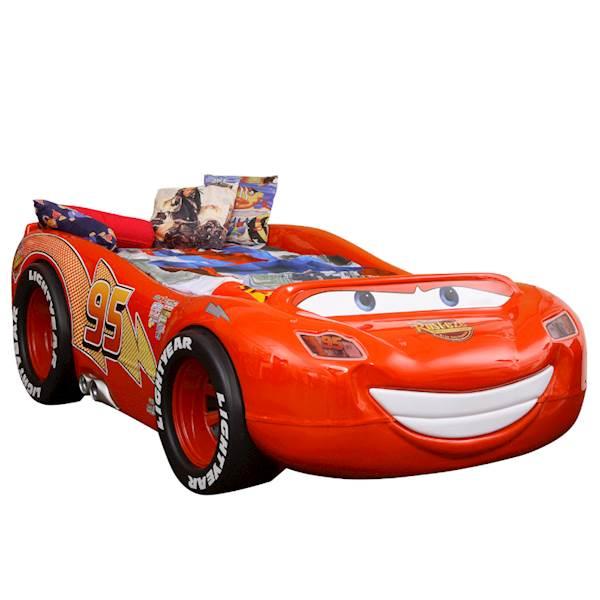 Łóżko dziecięce z materacem 180x90 cm - Auto McQueen ABS
