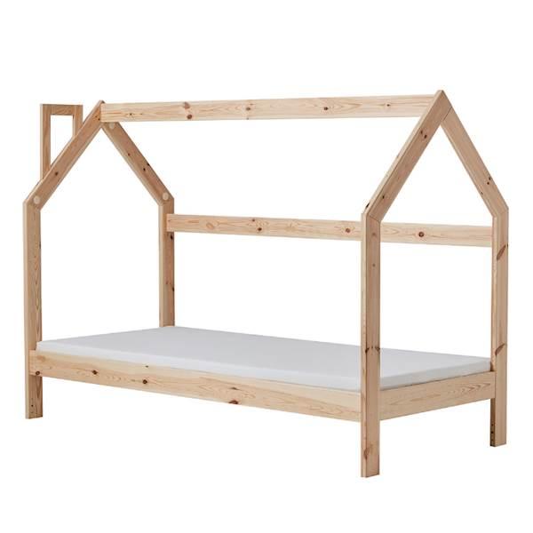 Domek Pinio łóżko 200x90 cm - drewno sosnowe lakierowane