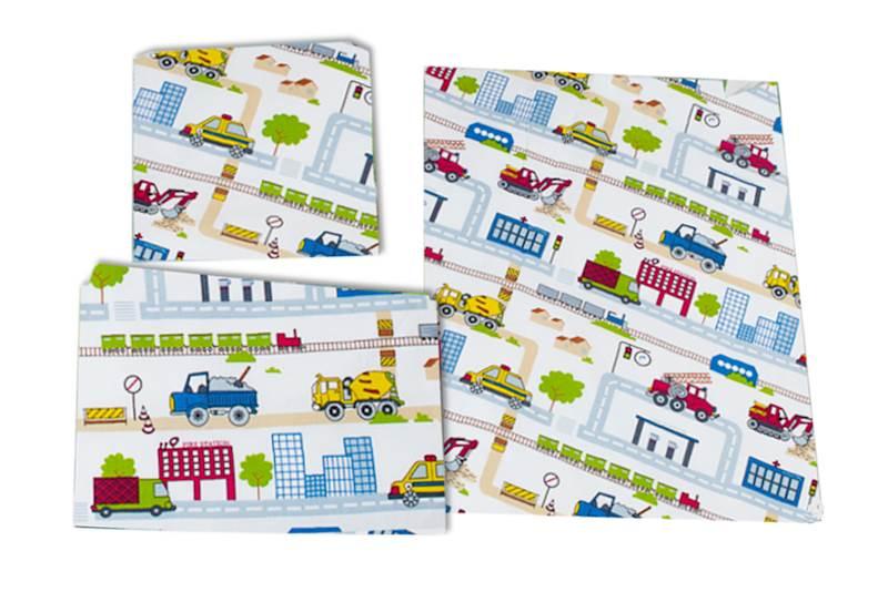 Pościel dziecięca zestaw na łóżko 160x80, 3-elemenowy - Budowa