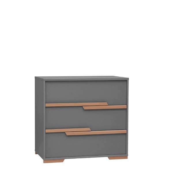 Snap Pinio - Komoda 3 szuflady - kolor ciemny szary