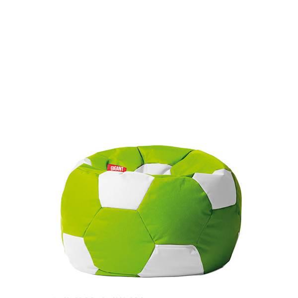 Pufa piłka 250L (kodura) - limonkowo-biała