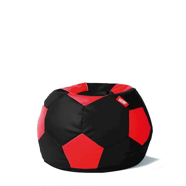 Pufa piłka 250L (ekoskóra) - czarno-czerwona