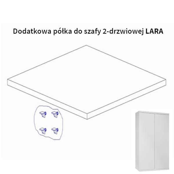 Lara Pinio - Dodatkowa półka do szafy 2 drzwiowej - kolor biały