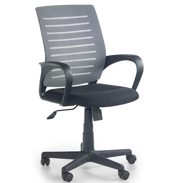 SANTANA fotel czarno - popielaty