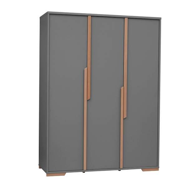 Snap Pinio - Szafa 3 drzwiowa - kolor ciemny szary