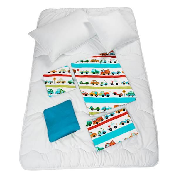 Pościel Dziecięca Zestaw Na łóżko 160x80 7 Elementowa Auta Samochody