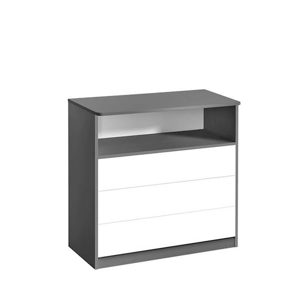 Sweet - Komoda 3 szuflady - kolor szary + biały