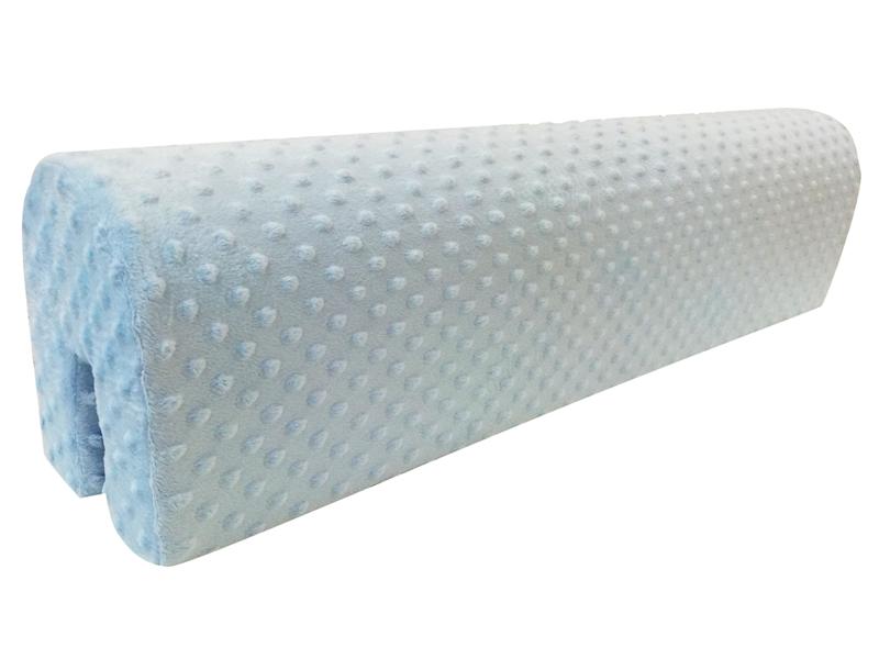 Ochraniacz piankowy Minky na łóżko barierkę 80 cm - niebieski