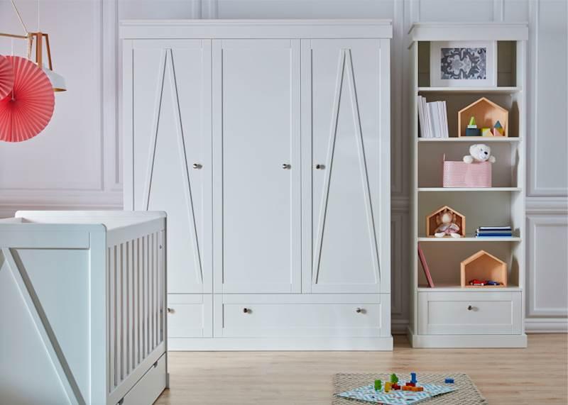 Marie Pinio - Szafa 3 drzwiowa - kolor biały