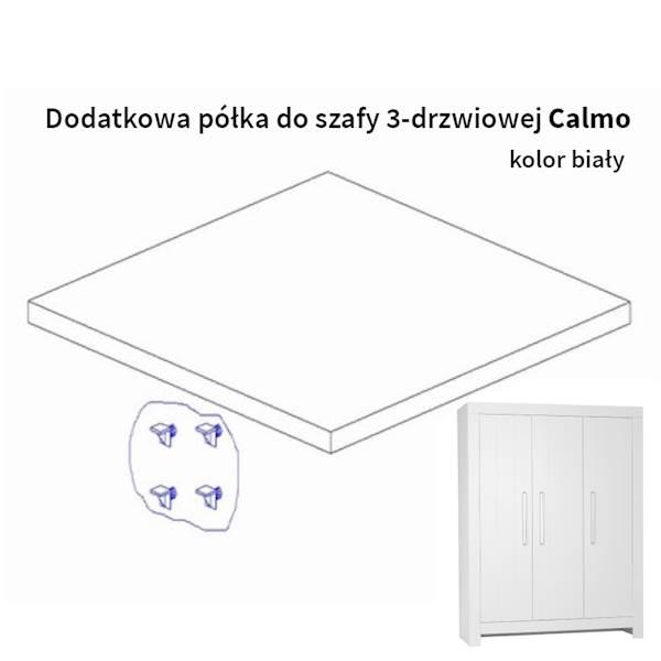 Calmo Pinio Dodatkowa Półka Do Szafy 3 Drzwiowej Kolor Biały