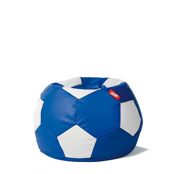 Pufa piłka 250L (ekoskóra) - niebiesko-biała
