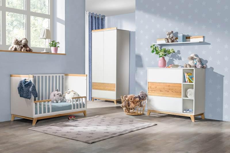 Nordik - Zestaw meble niemowlęce (3) - Jesion + biały