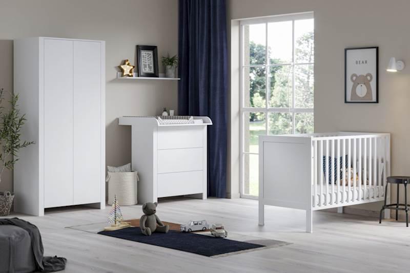 Basic ATB - Łóżeczko 120x60 cm - kolor biały