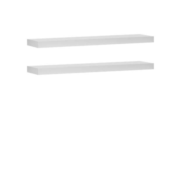 Lara Pinio - Półka ścienna wisząca (2szt) - kolor biały