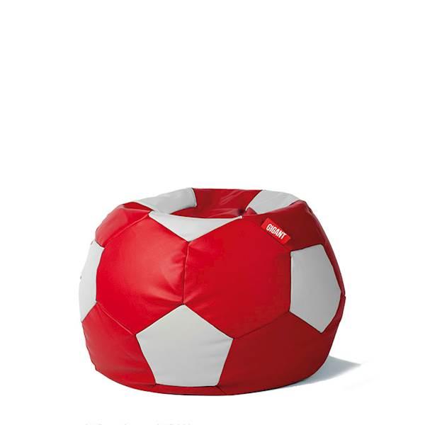 Pufa piłka 250L (ekoskóra) - czerwono-biała
