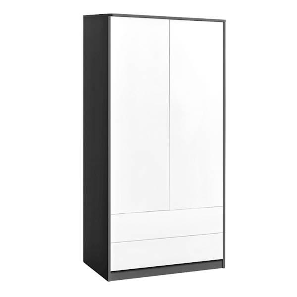 Sweet - Szafa 2 drzwiowa - kolor szary + biały