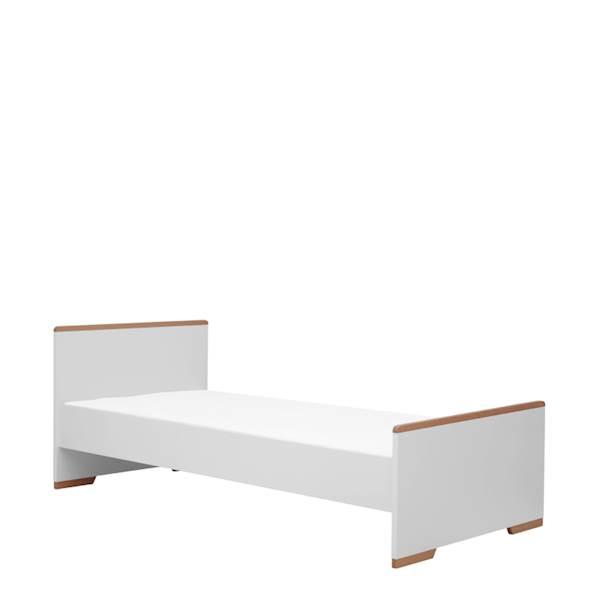 Snap Pinio - Łóżko 200x90 cm - kolor biały