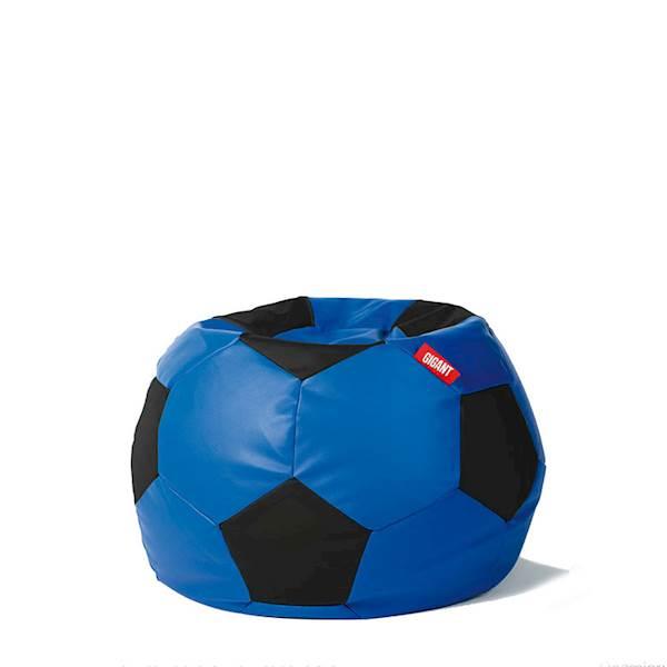 Pufa piłka 250L (ekoskóra) - niebiesko-czarna