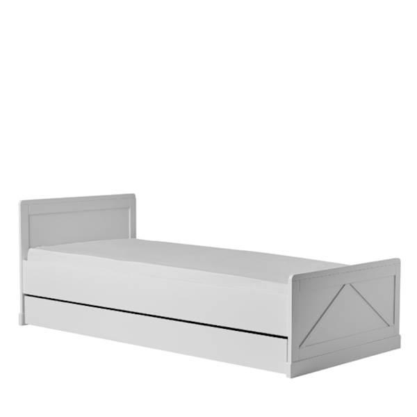 Marie Pinio - Szuflada do łóżka 200x90 cm - kolor biały