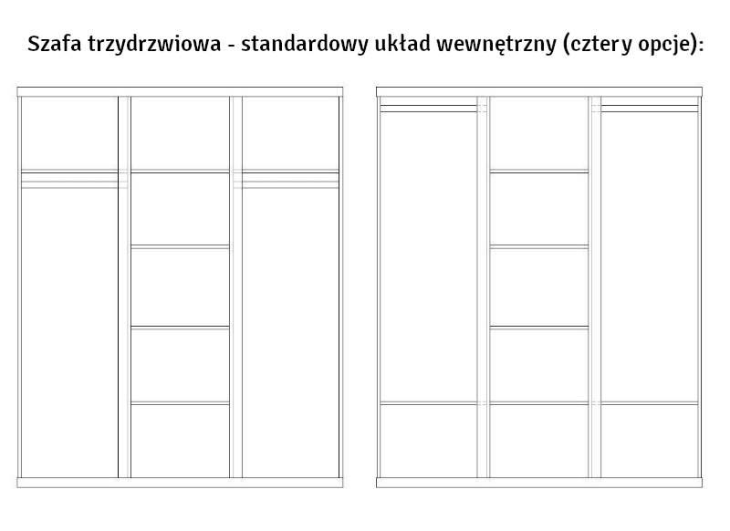 Lara Pinio - Szafa 3 drzwiowa - kolor biały