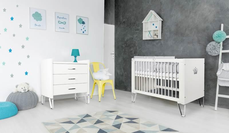 Blanka - Zestaw mebli niemowlęcych - biały
