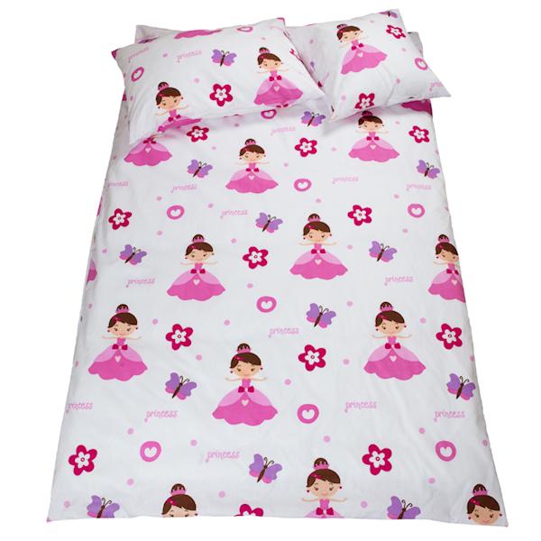 Pościel dziecięca zestaw na łóżko 160x80, 7-elementowa - Księżniczki