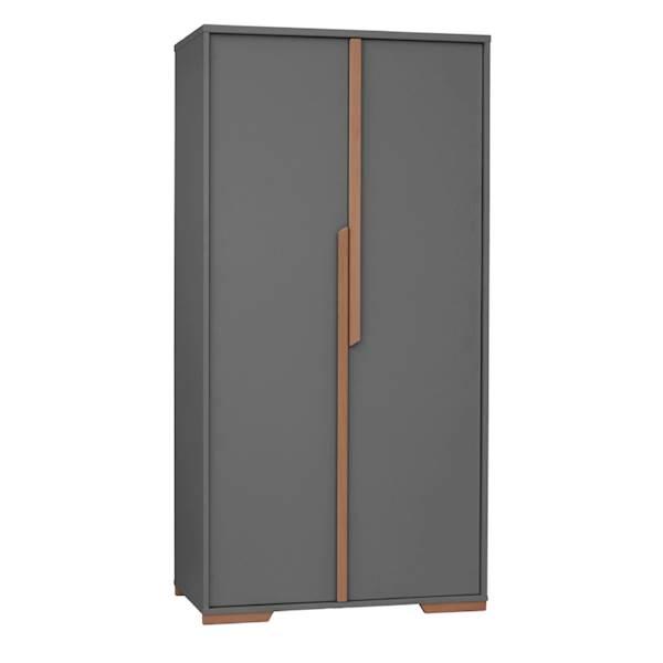 Snap Pinio - Szafa 2 drzwiowa - kolor ciemny szary