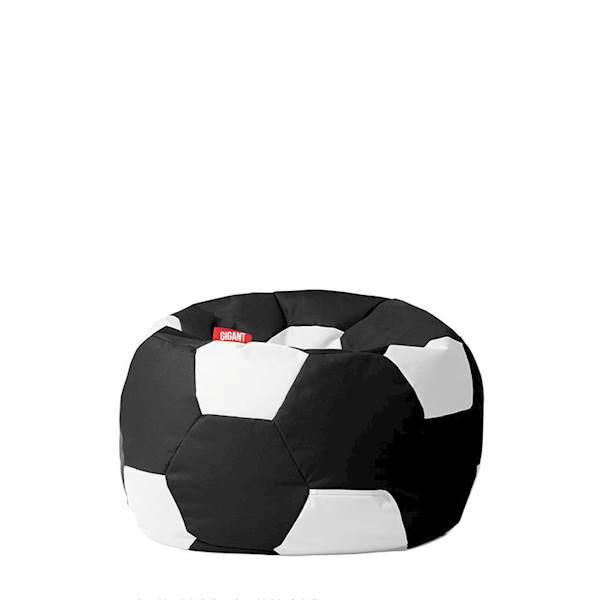 Pufa piłka 250L (kodura) - czarno-biała