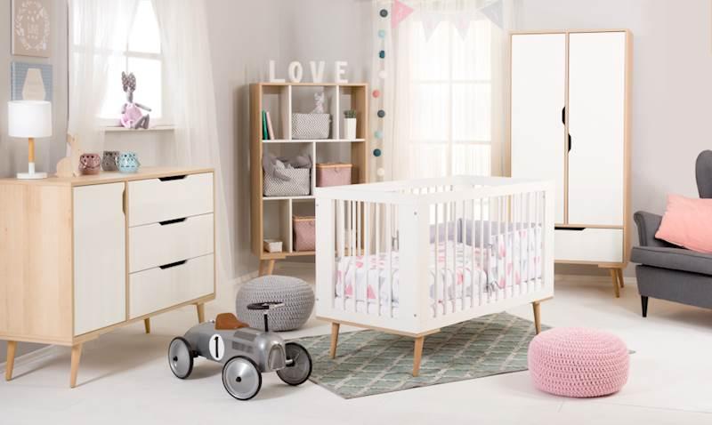 Sofie - Zestaw mebli niemowlęcych - buk-biały