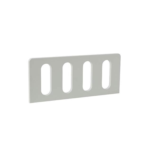 Barierka do łóżka domek 160x70 Pinio - Modern (2 szt.) 60 cm - kolor biały